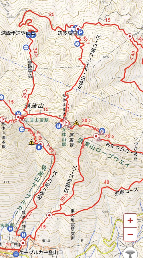 筑波山 登山ルート