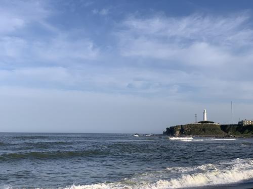 君ヶ浜から犬吠埼灯台を望む