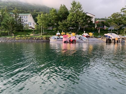 中禅寺湖 ボート遊び